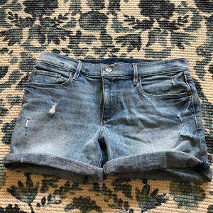 LOFT Distressed and Cuffed Jean Shorts